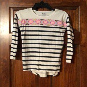 OshKosh girls 3/4 sleeve shirt size 7